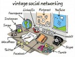 vintage office social network