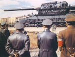 Hitler and generals with the Gustav railroad gun