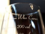 The calorie counting wine glass